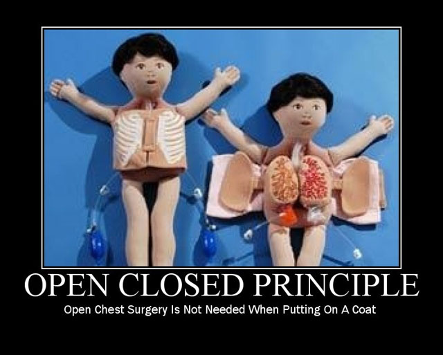 "Figura de brinquedo de cirurgia de peito aberto com os dizeres ""Open Chest Surgery Is Not Needed When Putting On A Coat"""